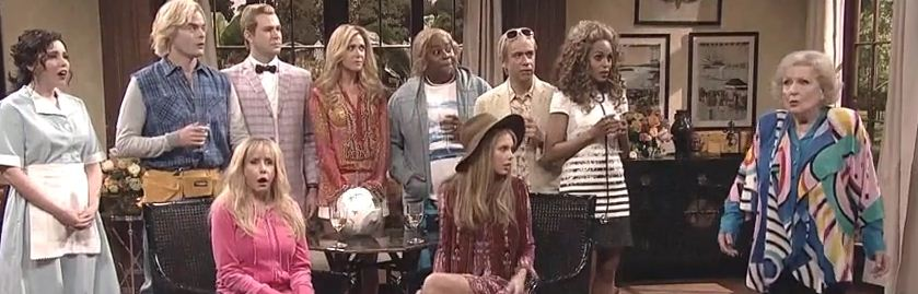 taylor swift bradley cooper betty white kerry washington on the californians on snl 40